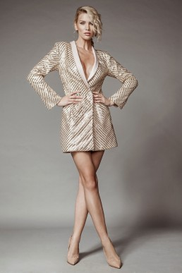 Short glitter jacket dress