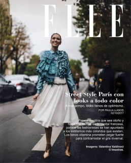 Landiana wearing Aida Lorena Atelier at Street Style Paris Fashion Week Elle portrait