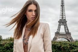Landiana wearing Aida Lorena Atelier at Street Style Paris Fashion Week GHD