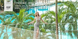Landiana wearing Aida Lorena Atelier at Therme Bucuresti – Commercial for Feeric Fashion Week