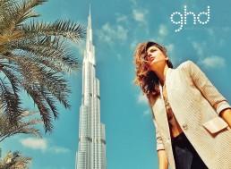 Landiana wearing Aida Lorena Atelier in Dubai – Commercial for GHD