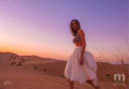 Landiana wearing Aida Lorena Atelier in M Calendar 2018 GHD Dubai
