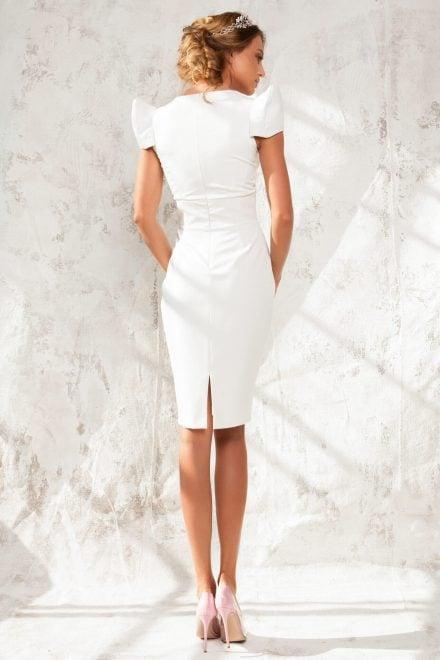 Rochie midi cu brau din piele si maneci supradimensionate Kim - Colectia Dreamcatcher Aida Lorena Atelier