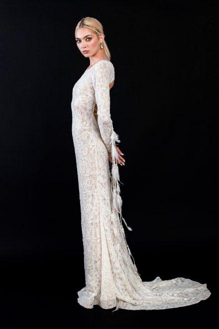 rochie-din-dantela-elastica-brodata-cu-perle-si-franjuri-de-pene-5-colectia-sfera-by-aida-lorena-atelier